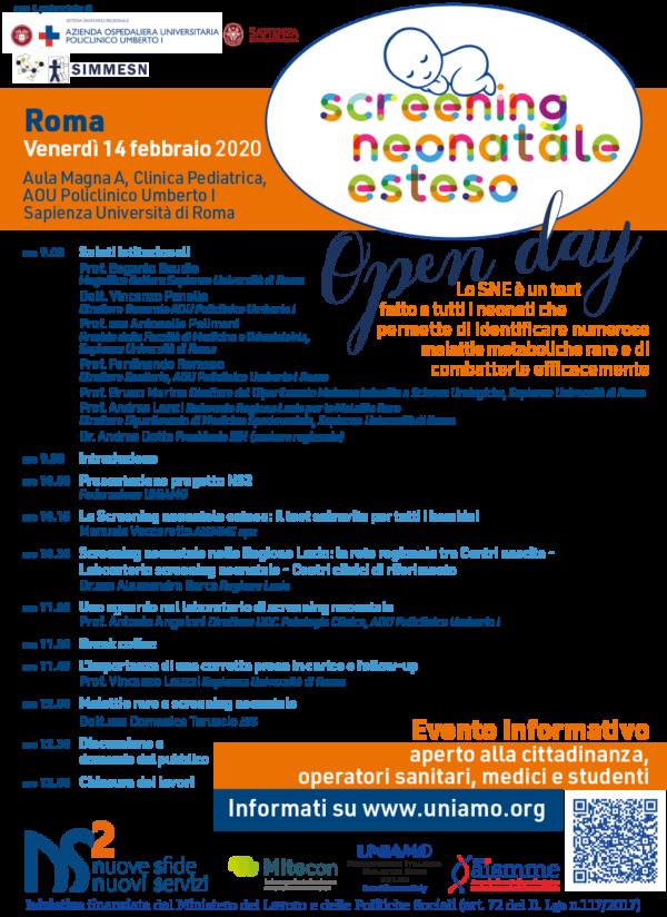 Open day UNIAMO 14 febbraio 2020